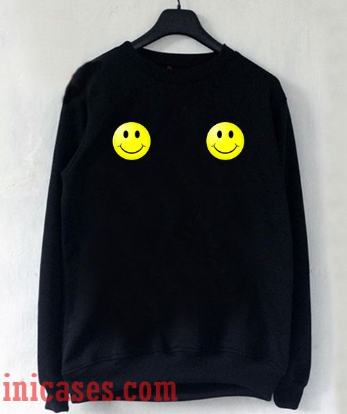 Smiley face boobs Sweatshirt Men And Women