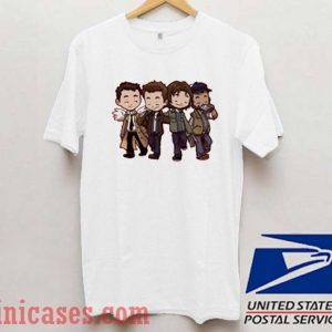 Supernatural Characters Cartoon T shirt