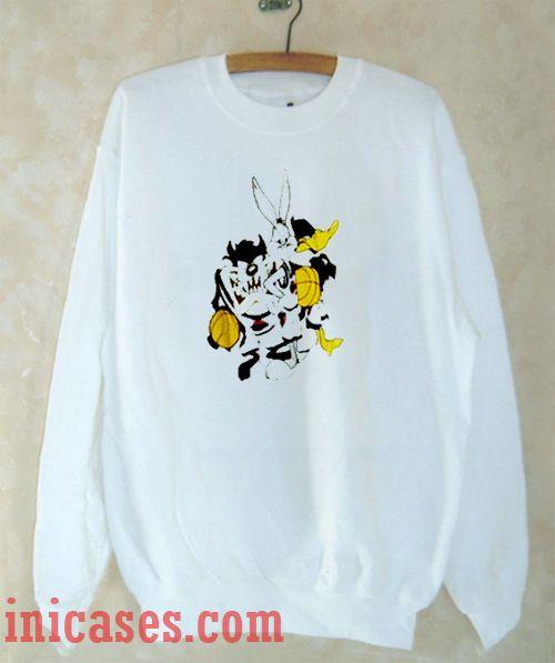 Tasmania Bug Bunny Daffy Duck Basket Sweatshirt Men And Women