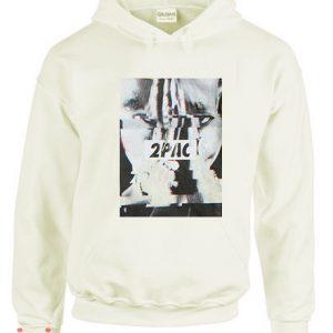 2Pac Glitch Photo Hoodie pullover
