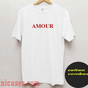 Amour Red And White T shirt