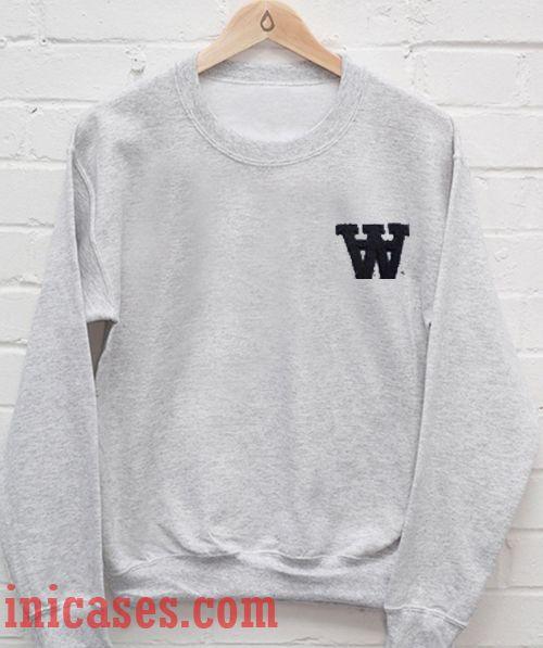 W alphabet Sweatshirt Men And Women