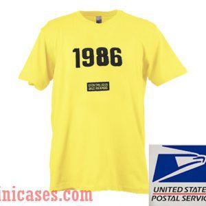 1986 yellow T shirt