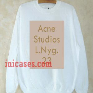 Acne Studios L.Nyg 23 Sweatshirt Men And Women