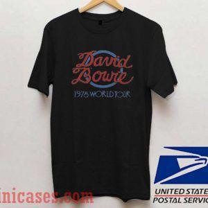 David Bowie 1978 World Tour T shirt