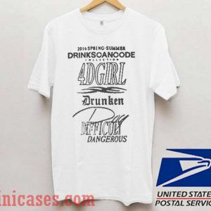 Drinkscancode 4d Girl T shirt