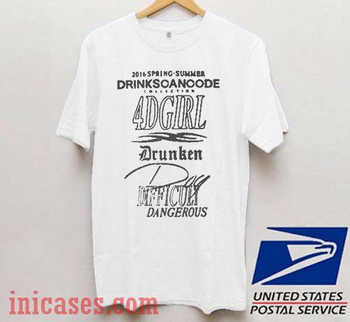 Drinkscancode 4d Girl T shirt