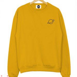 Yellow Planet Sweatshirt Men And Women
