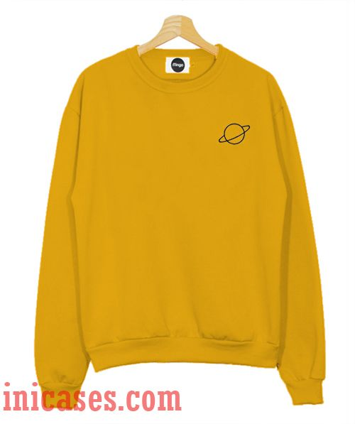 Yellow Planet Sweatshirt Men And Women