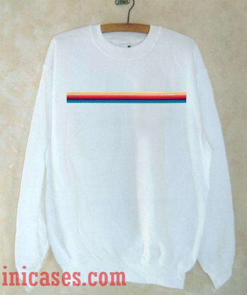 Stripped Rainbow Sweatshirt Men And Women