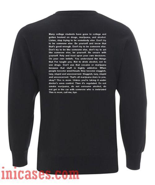 Frank Ocean Be Yourself Lyrics Sweatshirt Men And Women