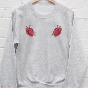 Rose Grey Sweatshirt Men And Women