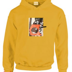 Skeleton Orange Hoodie pullover