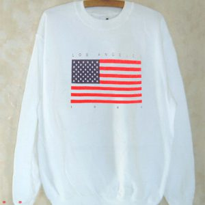 Los Angeles 1984 Flag Sweatshirt Men And Women