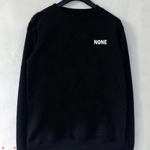 None Text Sweatshirt Men And Women