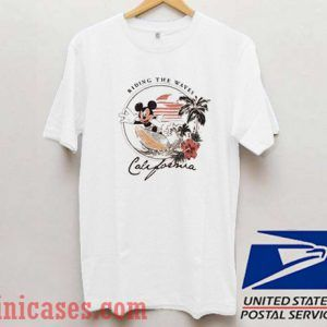 Riding The Waves California Mickey Mouse T shirt