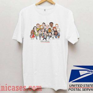 The Office cast cartoon T shirt