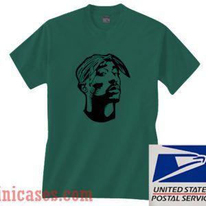 Tupac Shakur Silhouette T shirt