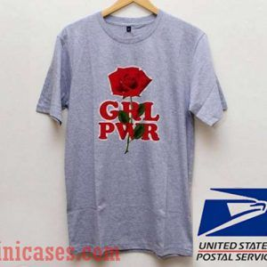 GRL PWR Rose Flower T shirt