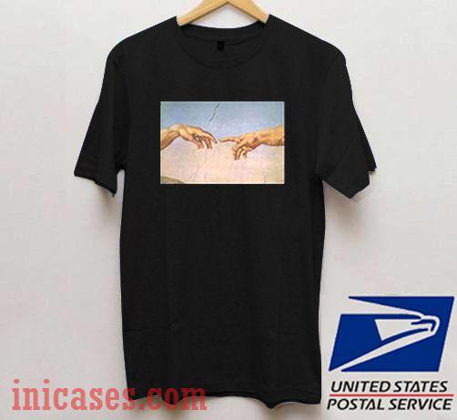 f89008a1 Michelangelo hand T shirt