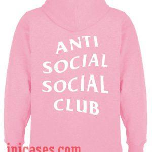 Anti Social Social Club Back Pink Hoodie pullover