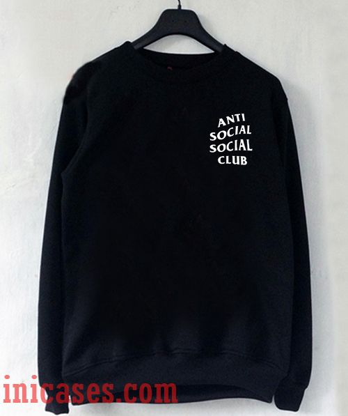 Anti Social Club Black Sweatshirt Men And Women