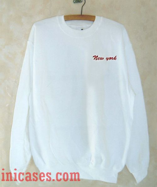 New York Red Text Sweatshirt Men And Women
