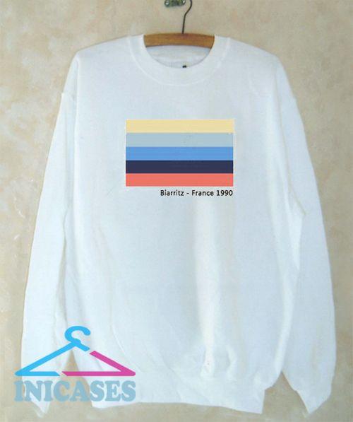 Biarritz France 1990 Sweatshirt Men And Women