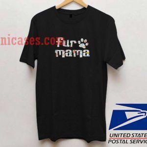 Fur mama floral T shirt