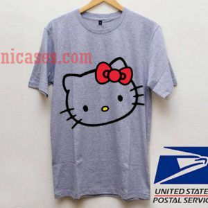 LARGE GRAY HELLO KITTY T shirt