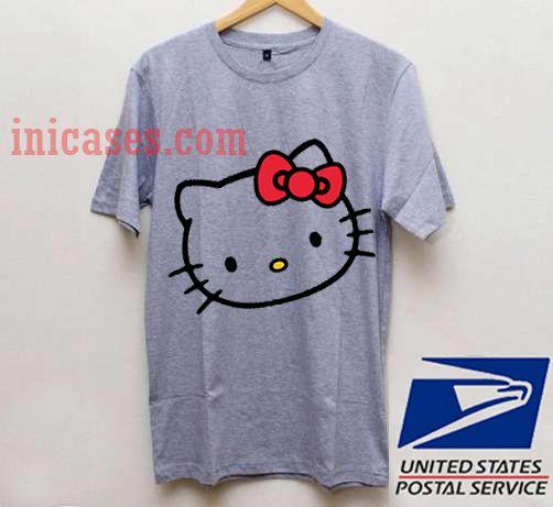 LARGE GRAY HELLO KITTY T shirt