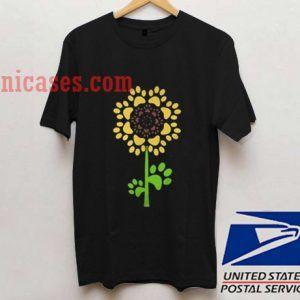 Official Dog paw sunflower T shirt