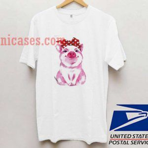Pig bandana bow T shirt
