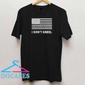 US Flag I don't kneel black T shirt