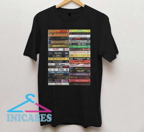 Old school hip hop cassette tape T shirt