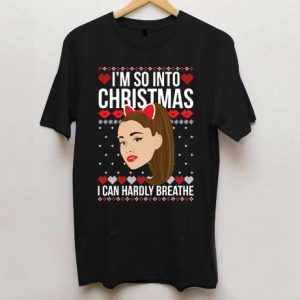 Ariana Grande Ugly Christmas Black T Shirt