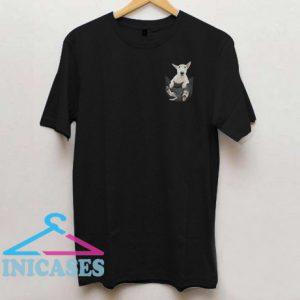 Bull Terrier inside black Tiny Pocket T shirt