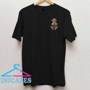 Dachshund in Tiny Pocket T shirt