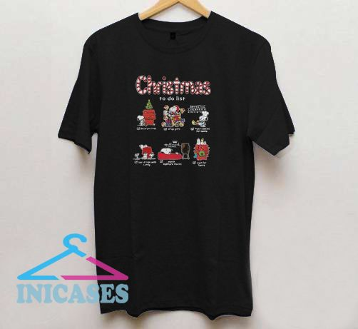 Funny Snoopy Christmas to Do T shirt