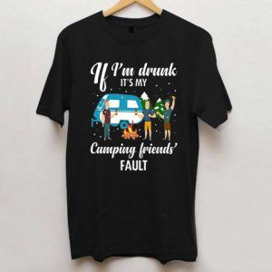 If I'm Drunk It's My Camping Friends Christmas T Shirt