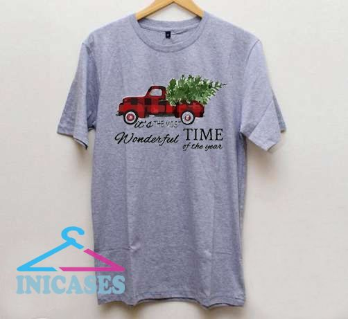 It's the Most Wonderful Time of the Year Red Truck Christmas T Shirt
