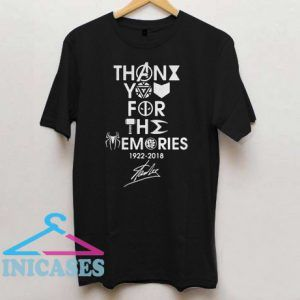 Thank You For The Memories 1922 2018 Stan Lee T Shirt