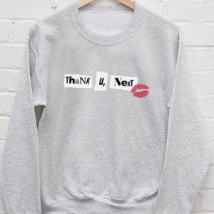 Thank you next Kiss Ariana Grande Sweatshirt Men And Women