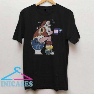 Washington Redskins Santa Claus T Shirt