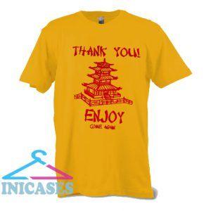 Thank You Pagoda Enjoy Come Again T Shirt