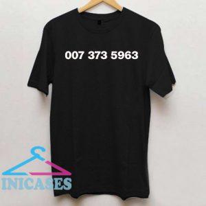 007 373 5963 T Shirt