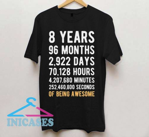 8th Birthday T Shirt