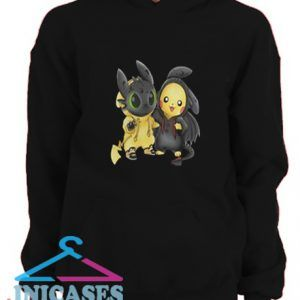 Baby Toothless and Pikachu Hoodie pullover