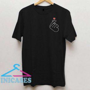 Korean love symbol kpop tumblr T Shirt