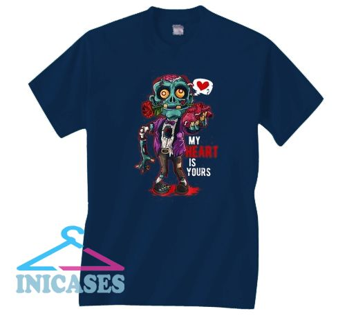 My Heart Is Yours Zombie Brains Valentines Day T shirt
